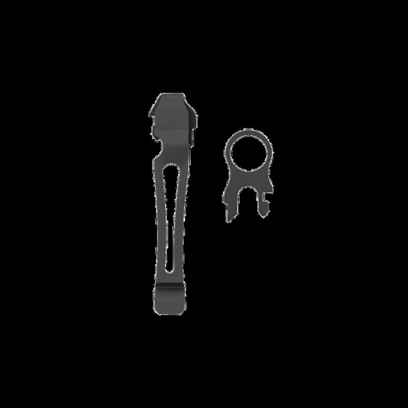 OEILLET + CLIP DE POCHE POUR PINCES GRANDE TAILLE AMOVIBLE NOIRES